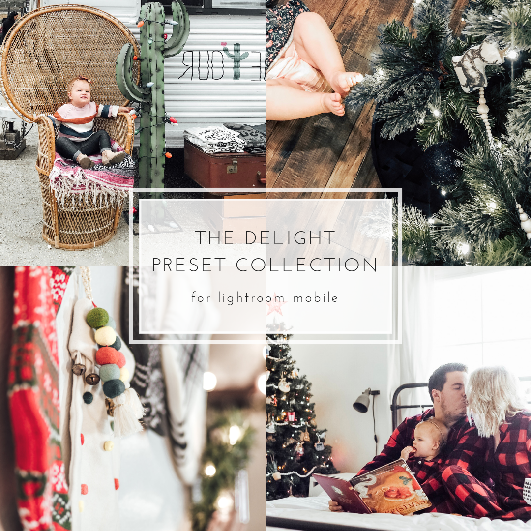 The Delight Mobile Preset Collection Photography Christmas Photos Collection