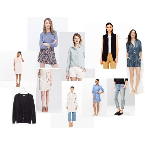 Items by stylebyali on Polyvore featuring Madewell and Banana Republic