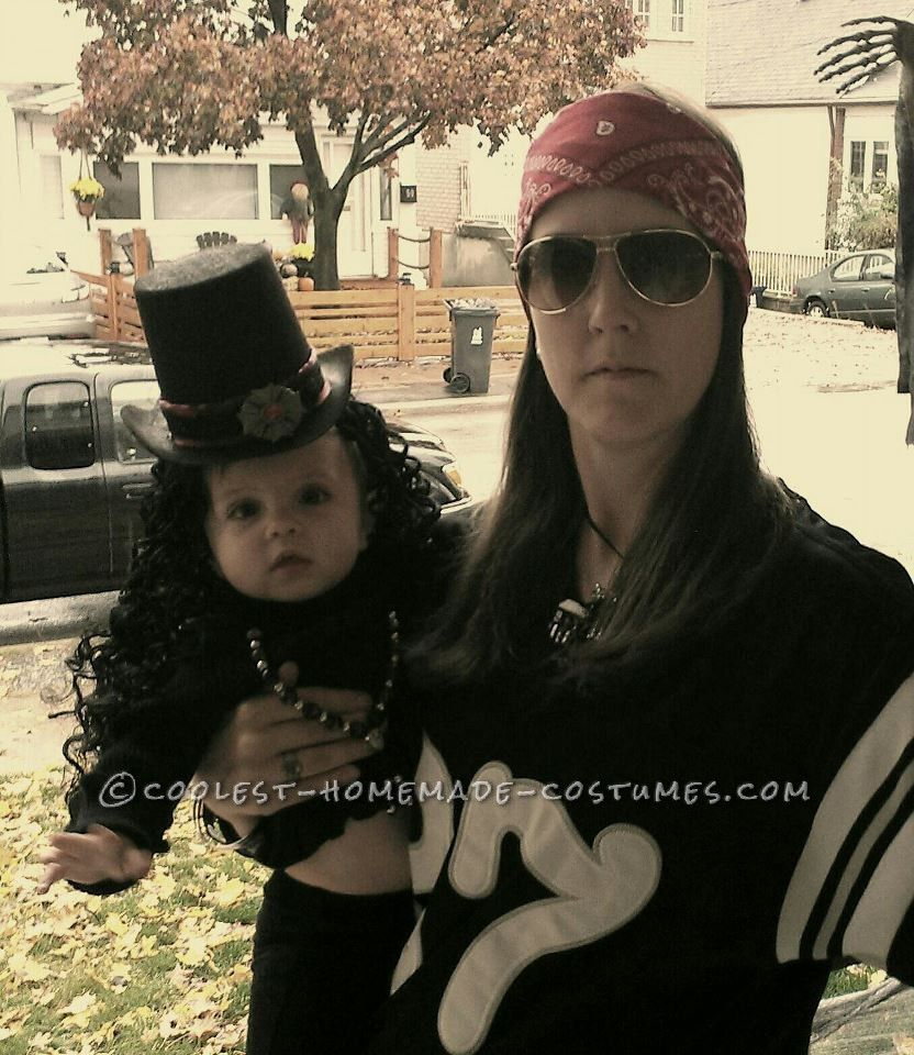 Cute Mother and Baby Guns N Roses Homemade Halloween Costume  sc 1 st  Pinterest & Cute Mother and Baby Guns N Roses Homemade Halloween Costume ...