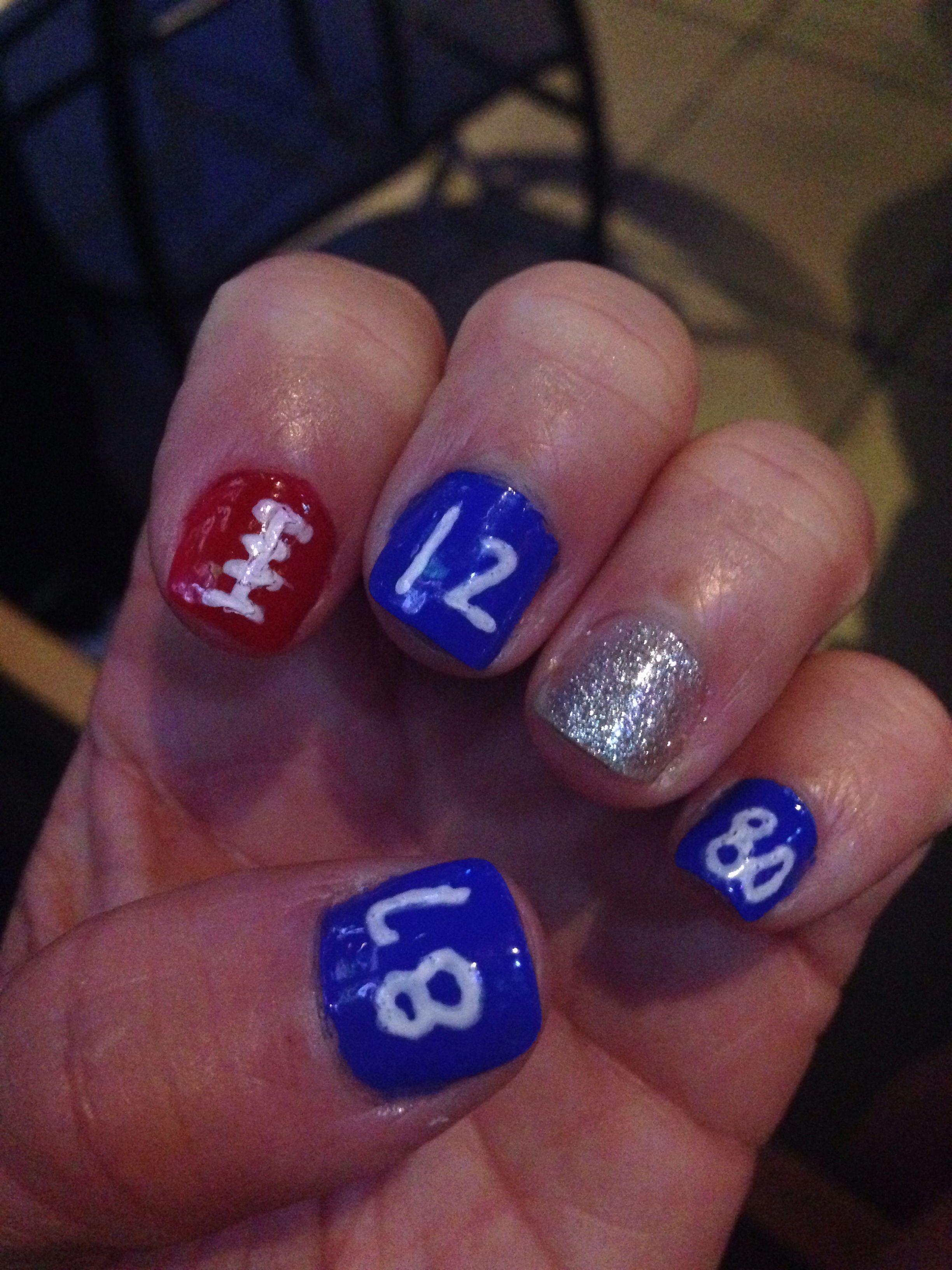 New England patriots nail art   Nail art   Pinterest