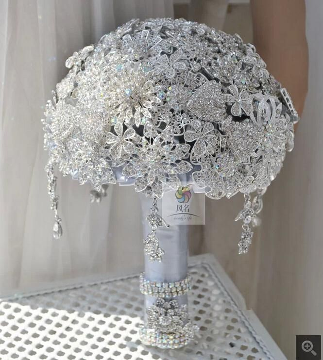 A beautiful jeweled wedding bouquet | From Bouquet to Boutonniere ...