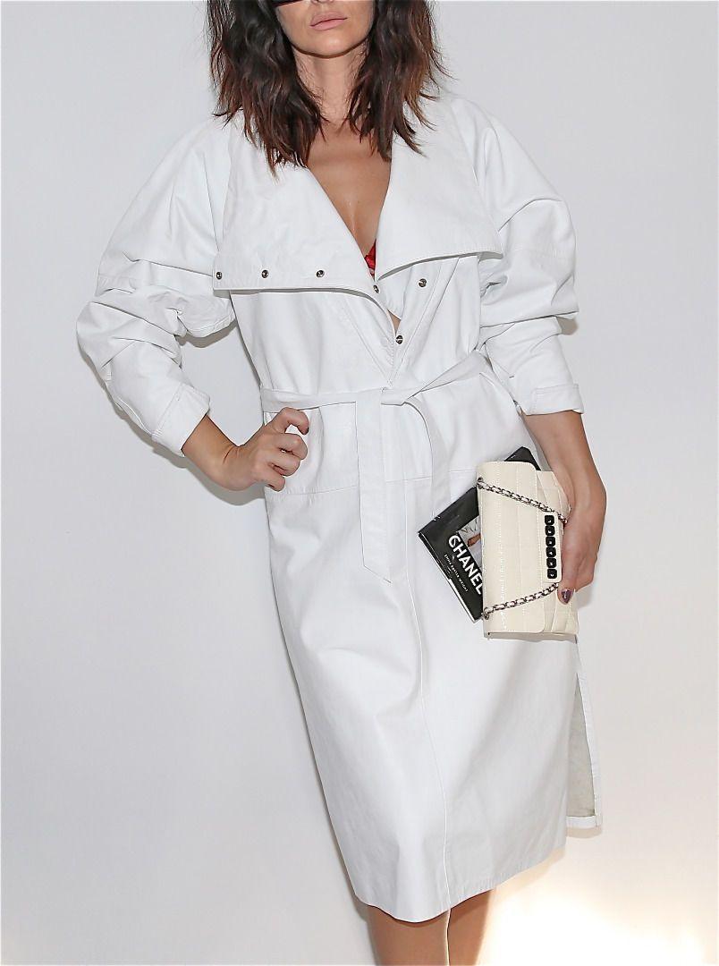 Vintage Marshall Rousso White Leather Long Sleeve Dress Size S Ebay Dresses Womens Dresses Long Sleeve Dress [ 1080 x 804 Pixel ]