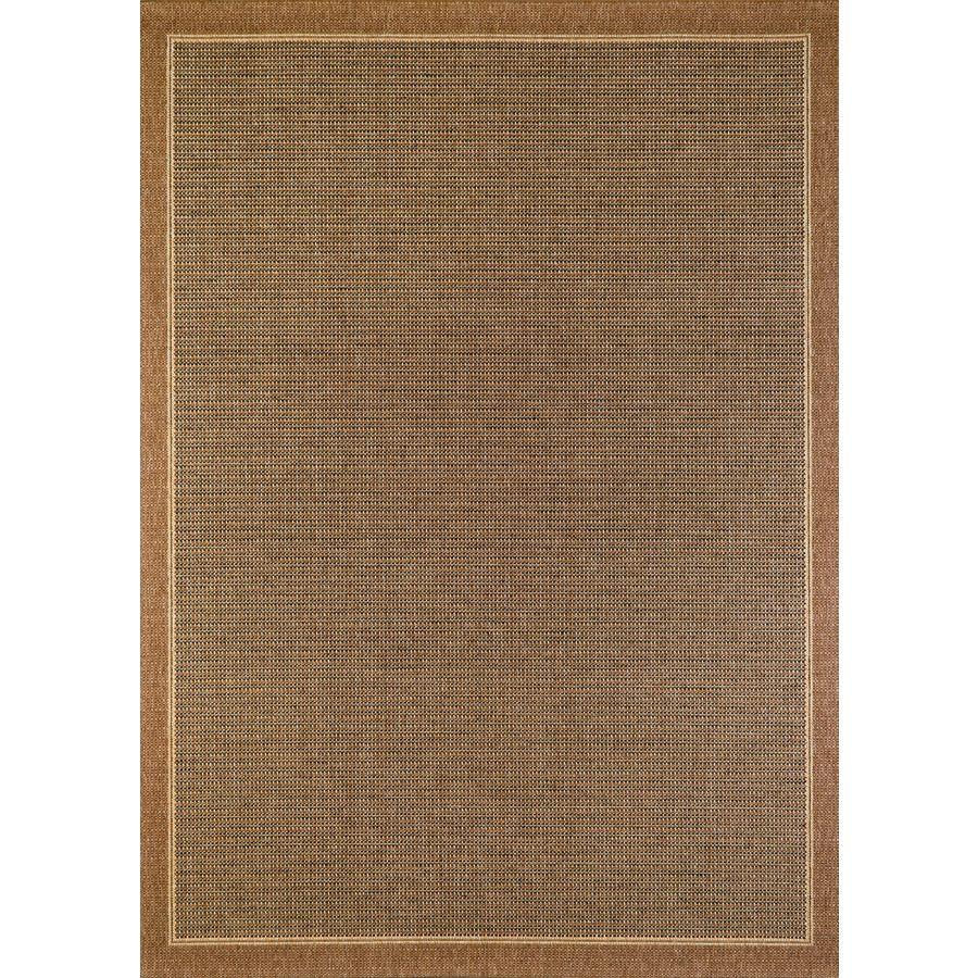 118 balta sisal brown havanah rectangular indoor outdoor machine made area rug common 8 x 11 actual 94 in w x 126 in l