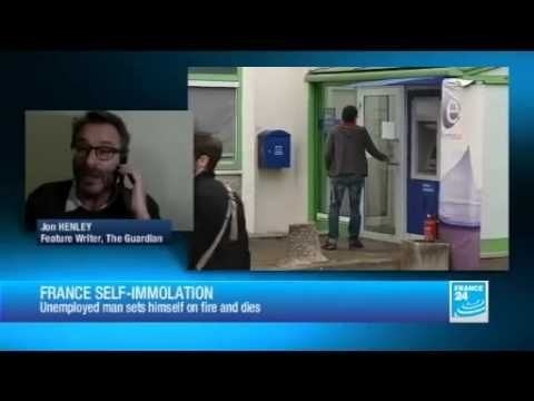 http://france.mycityportal.net - English News Today - Europe SHOCK: Man Burns Himself to Death at Job Center in France -             http://www.youtube.com/EnglishNewsToday English News Today Plz Subscrib for Latest World News 2013 Frenchman self-immolates over unemployment benefits A man           - http://france.mycityportal.net/2013/04/english-news-today-europe-shock-man-burns-himself-to-death-at-job-center-in-france/