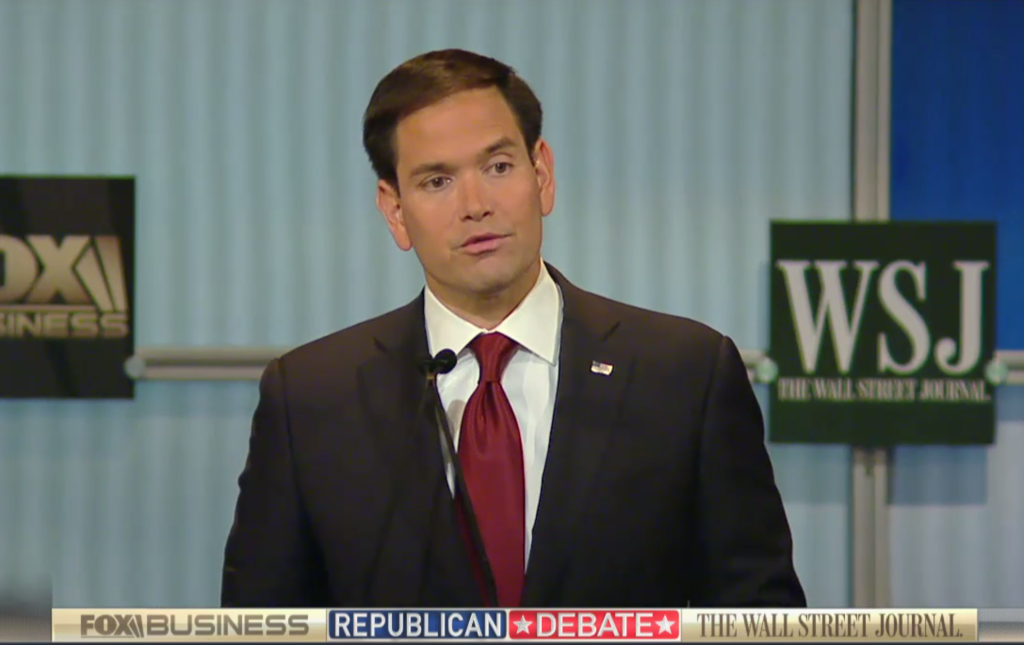 Marco Rubio is the winner of the Fox Business/Wall Street Journal primetime GOP presidential debate. Bobby Jindal lands punches during the undercard round.