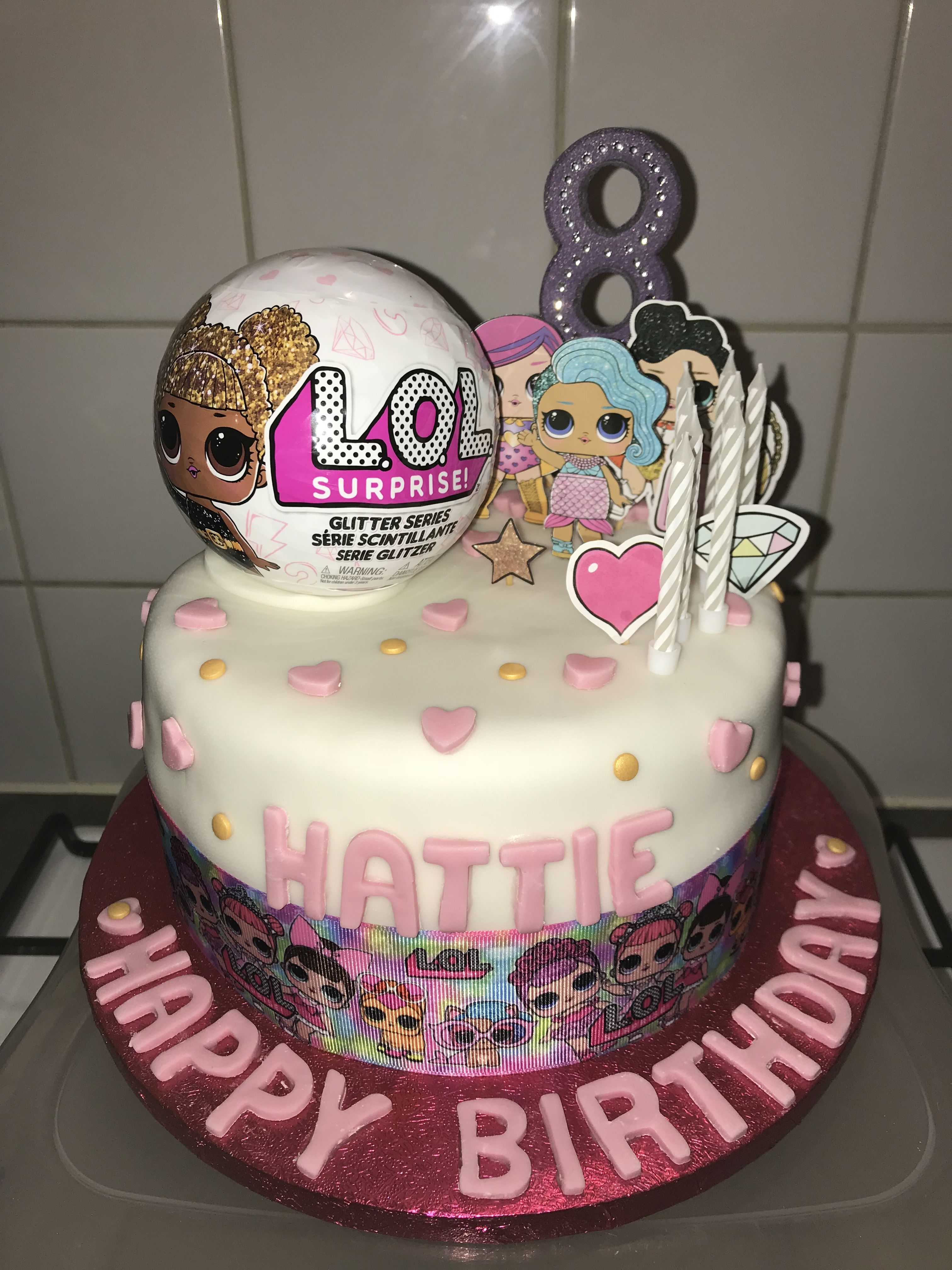 Lol Surprise Doll Birthday Cake With Hidden Lol Doll