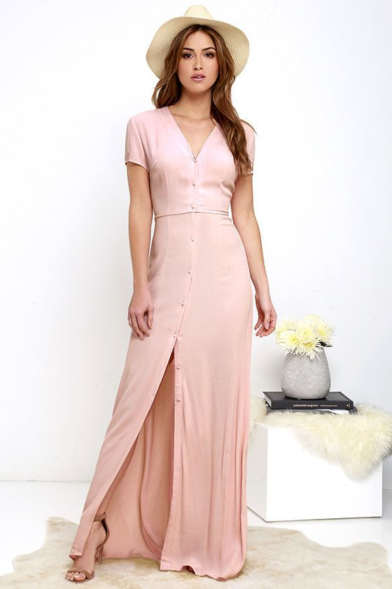 5b8c1f48147 Shop for Vida Bonita Blush Pink Maxi Dress by Glamorous at ShopStyle. Now  for Sold Out.