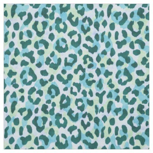 Chic Colorful Green Cheetah Print Pattern Fabric Print Patterns Print Design Pattern Printing On Fabric
