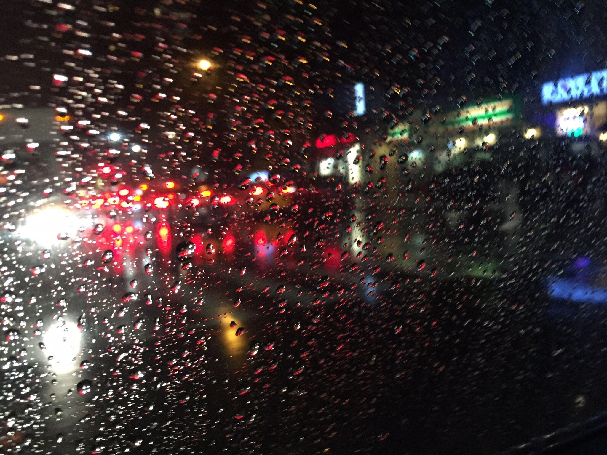 In a raining night