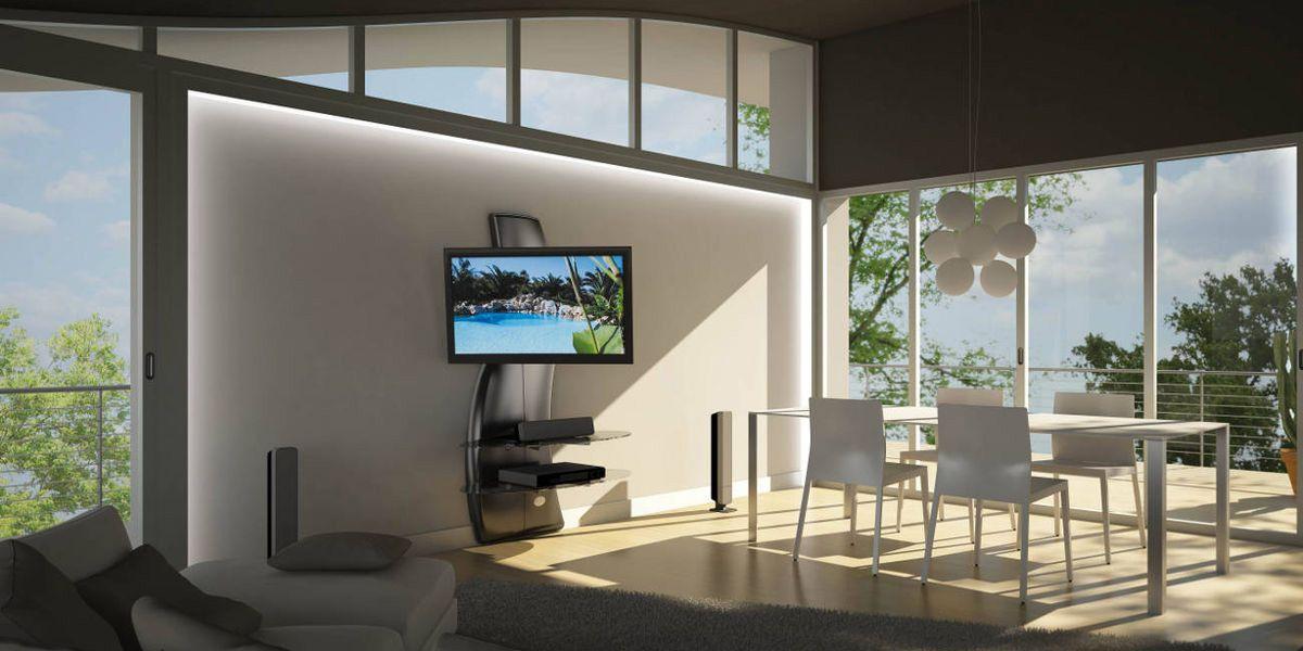 Meliconi Ghost Design 2000 DR Blanc | Meubles TV Meliconi Sur EasyLounge