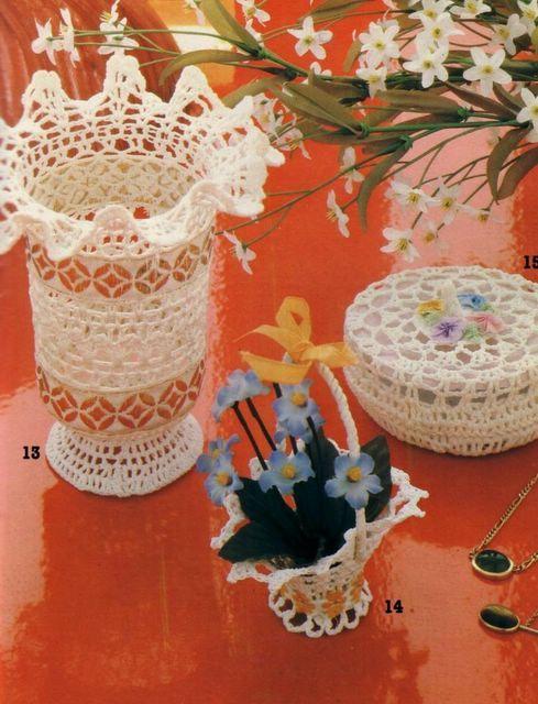 Crochet vase #06 ♥LCB♥ with diagram | crochet | Pinterest ...