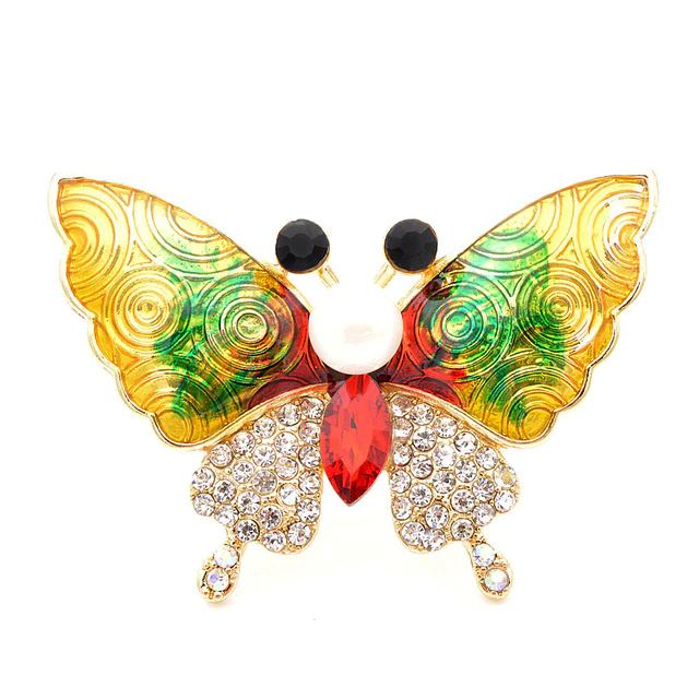 Hand Painted butterfly Brooches for Women Colorful Alloy Brooch Pins Accessories