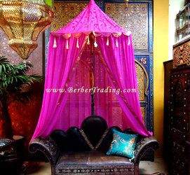 Moroccan Canopy Bed imperial fantasy canopy - fuchsia - would be great on a small