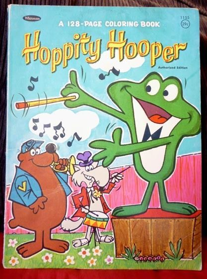 Hoppity Hooper Frog, 1966 Whitman Coloring Book - Jay Ward ...