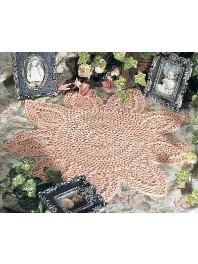 Crochet Doilies - Floral Doily Crochet Patterns - Peach Blossoms ...
