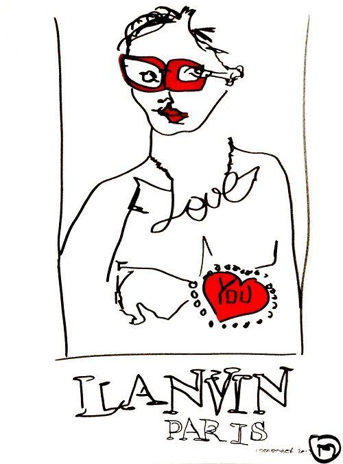 belle BRUT sketchbook: #lanvin #love #fashion #style #illustration #blindcontour © belle BRUT 2014 http://bellebrut.tumblr.com/post/93745264300/belle-brut-sketchbook-lanvin-fashion-style