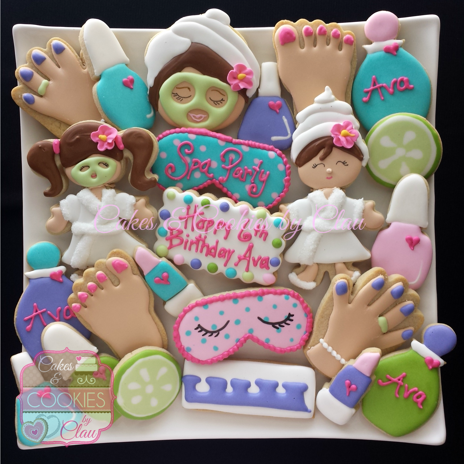 Surprising Spa Party Ava Spa Party Cakes Girl Spa Party Spa Party Personalised Birthday Cards Xaembasilily Jamesorg