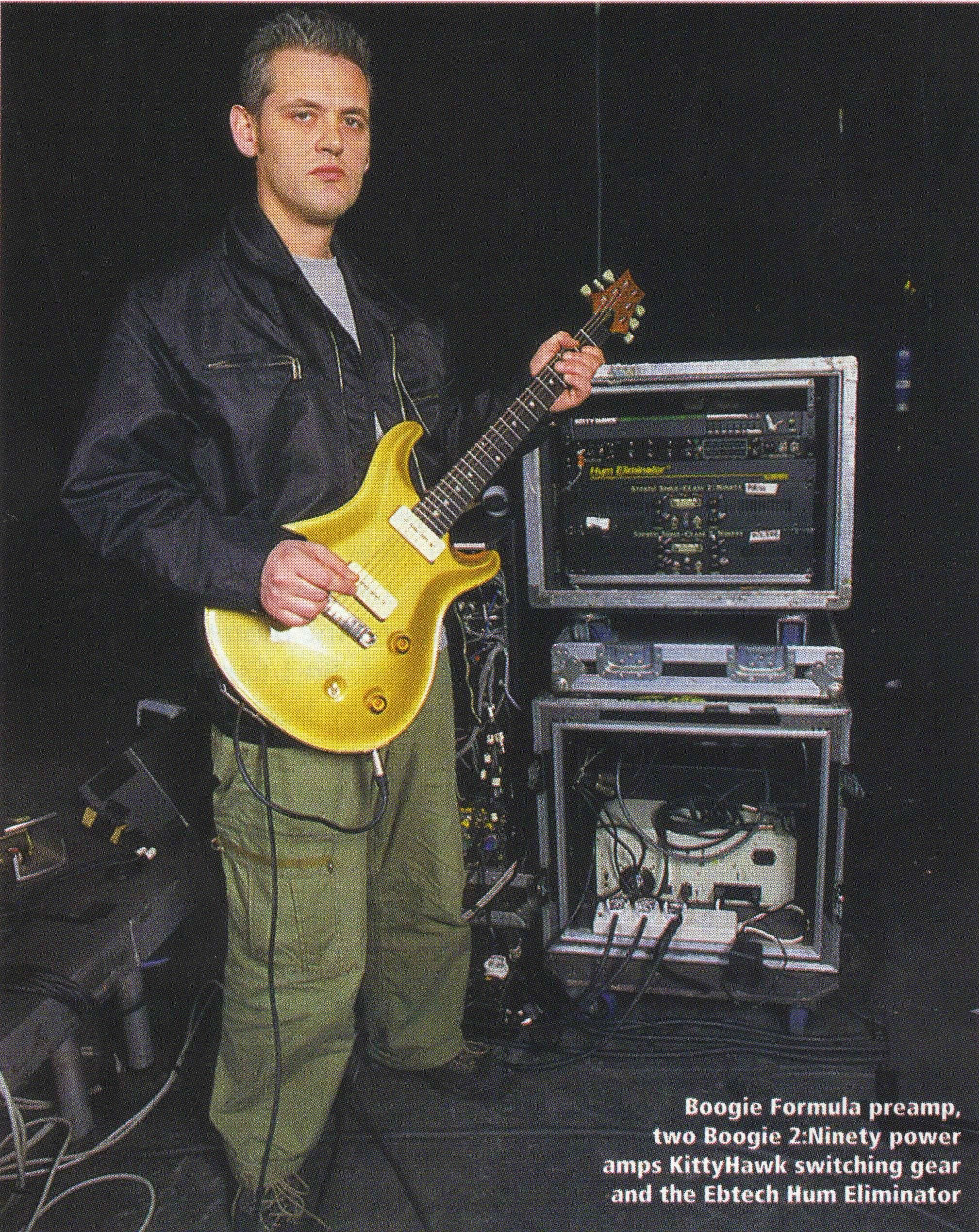 angelo bruschini lead guitarist for massive attack since 1995 pictured here with some of his. Black Bedroom Furniture Sets. Home Design Ideas