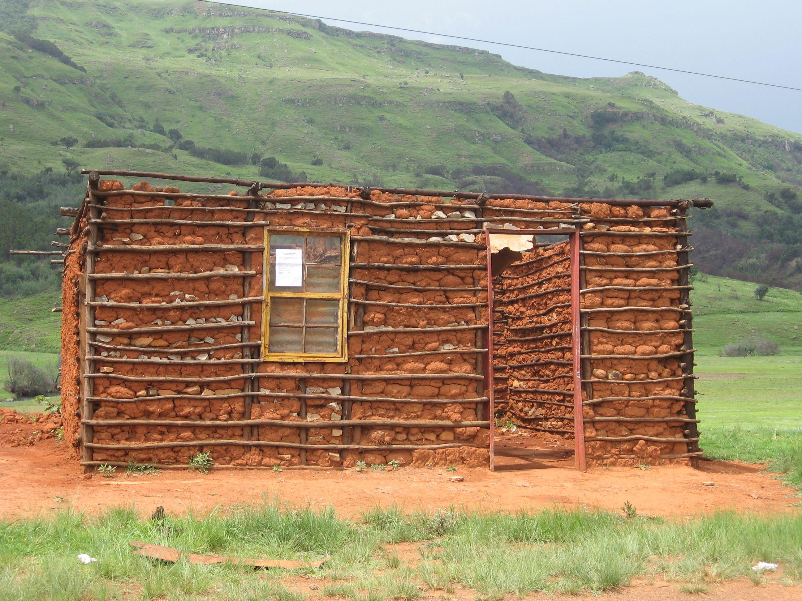 house under construction, rural KwaZuluNatal, South