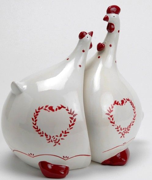 Duo poule rouge bisous poules d co pinterest chicken for Poules decoration