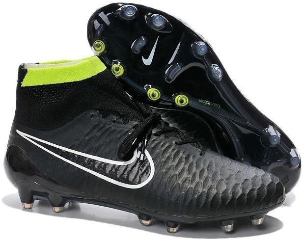 online retailer e4aa9 6ce37 Nike Magista Obra ACC TPU FG Soccer Boots black white neon