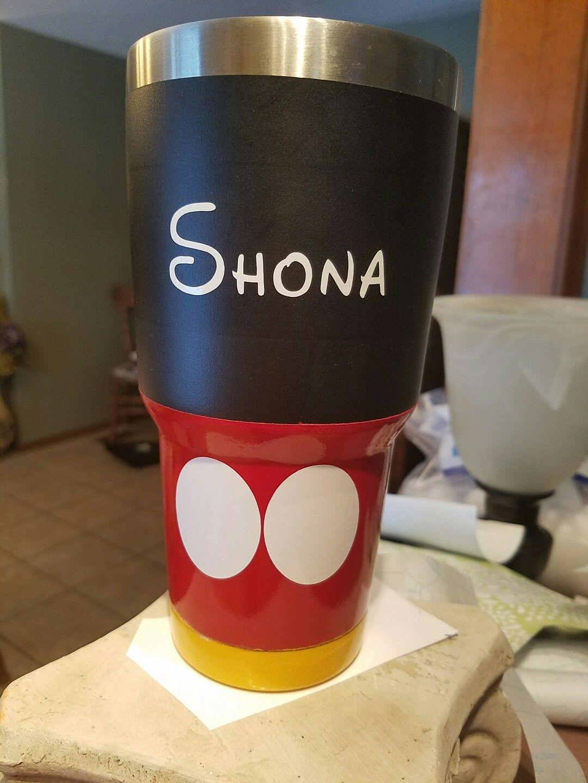 580ba2f6250 Mickey Mouse painted tumbler #yeti #ozarktrails ~BevAnn   Yeti ...