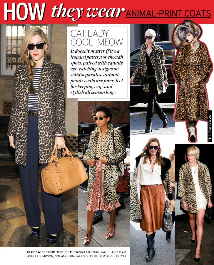 How They Wear: Animal-Print Coats - Celebrity Style and Fashion from WhoWhatWear