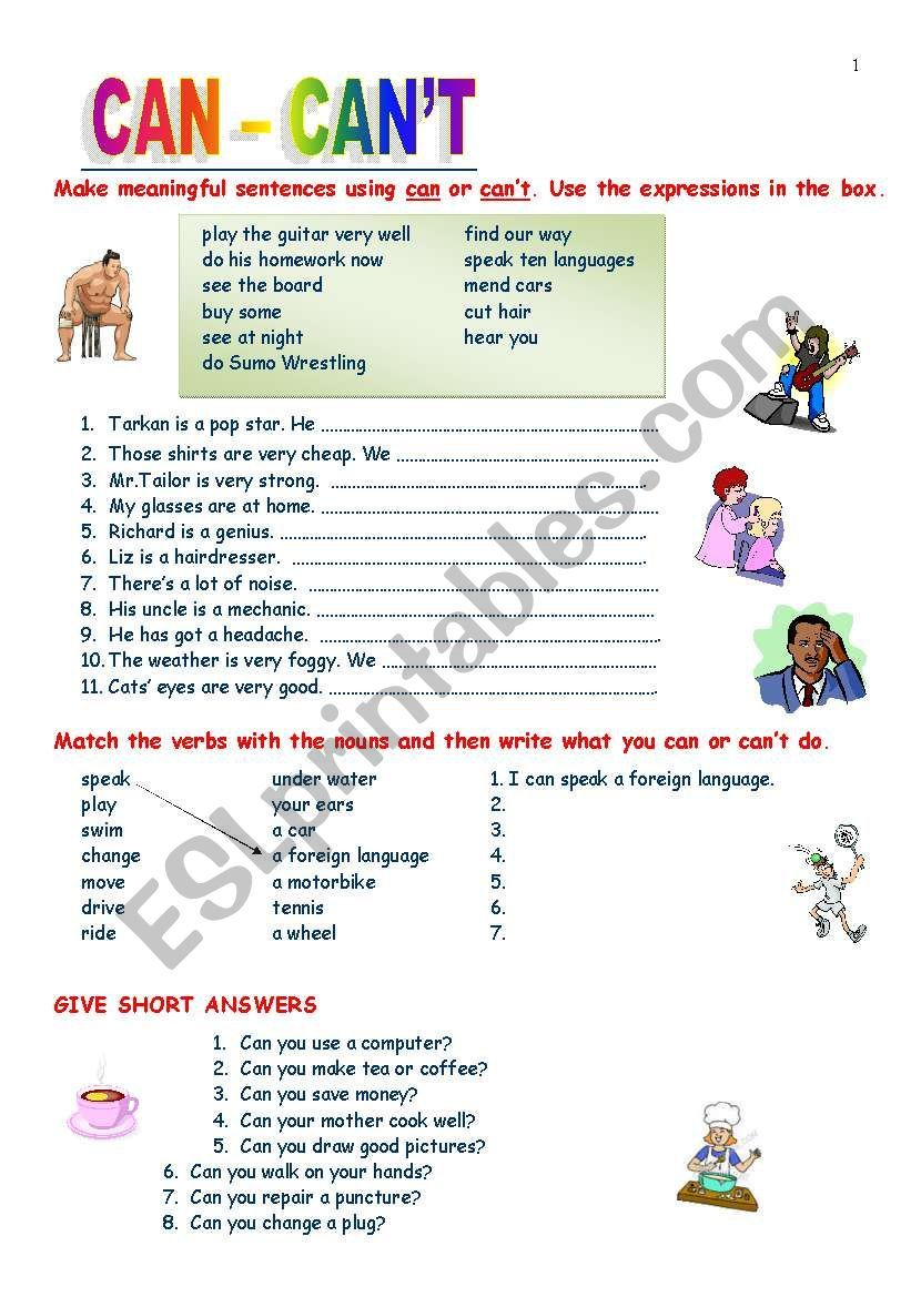 Can Can 180 T Ability Worksheet Pdf Can Can T