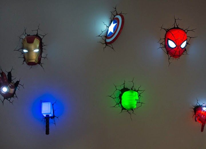 Myka Deco Varietats Avenger 3d Nightlight By Marvel Ideas Para El