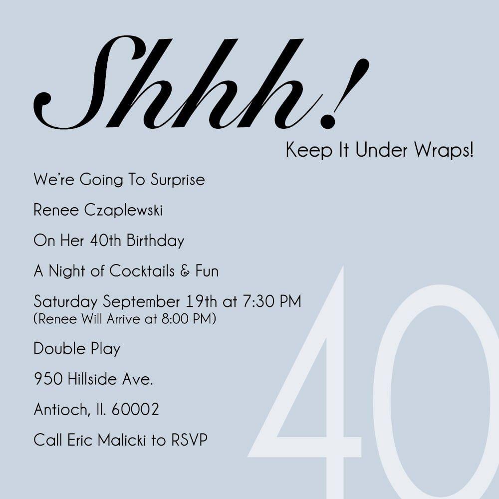 funny 40th birthday party invitation