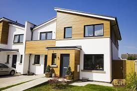 Image result for black upvc windows and garage white house | House ...