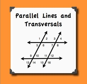 Parallel Lines Transversals And Their Angles Notes And Quiz