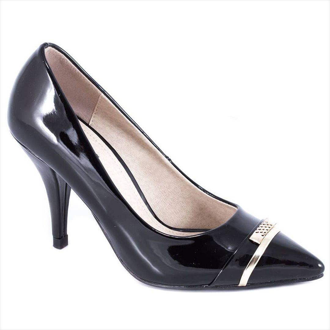 Pantofi negri cu toc 51842N - Reducere 60% - Zibra