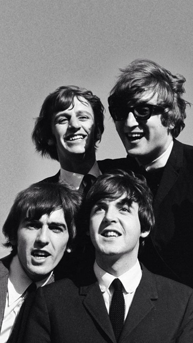 Black White Beatles IPhone 5 Wallpaper