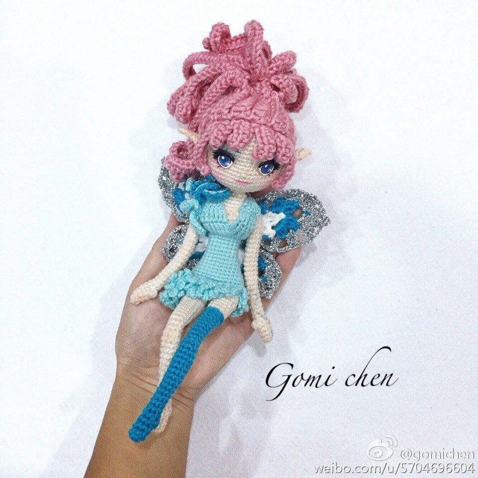 Fairy doll crochet pattern - Amigurumi Today | 960x960