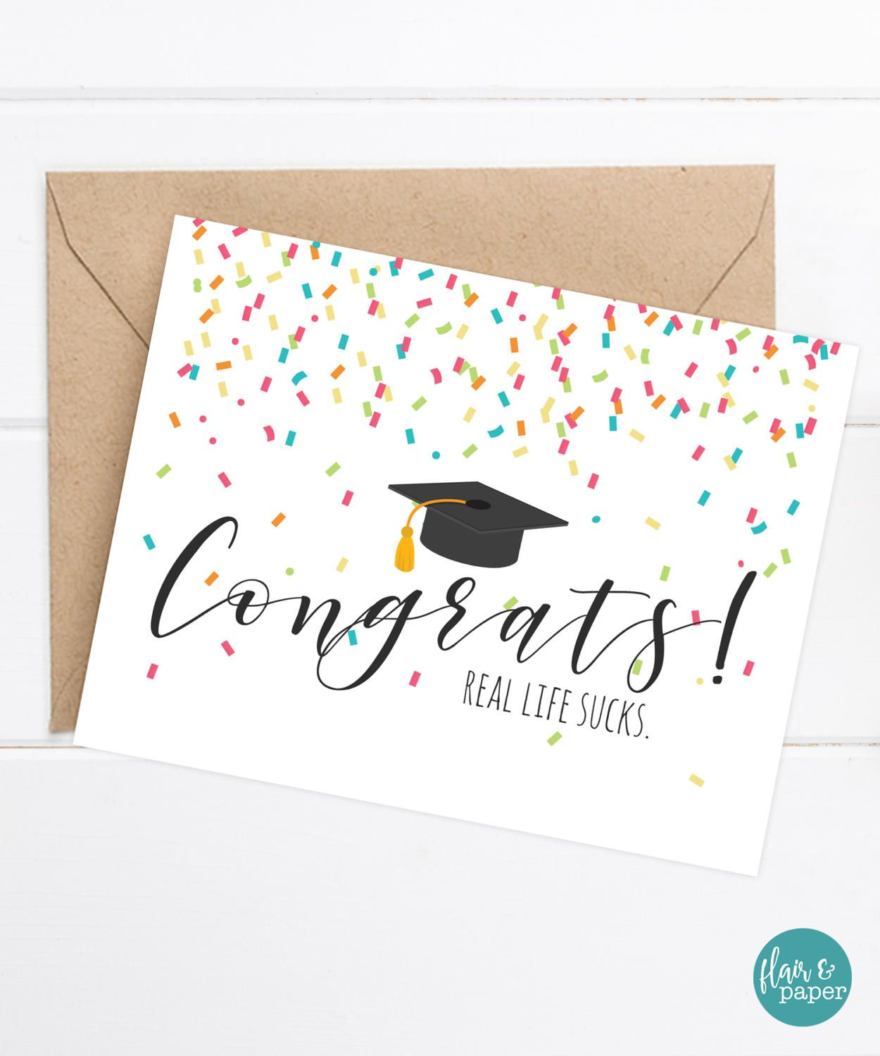 Congratulations Grad Card - Funny Graduation Card - Grad ...