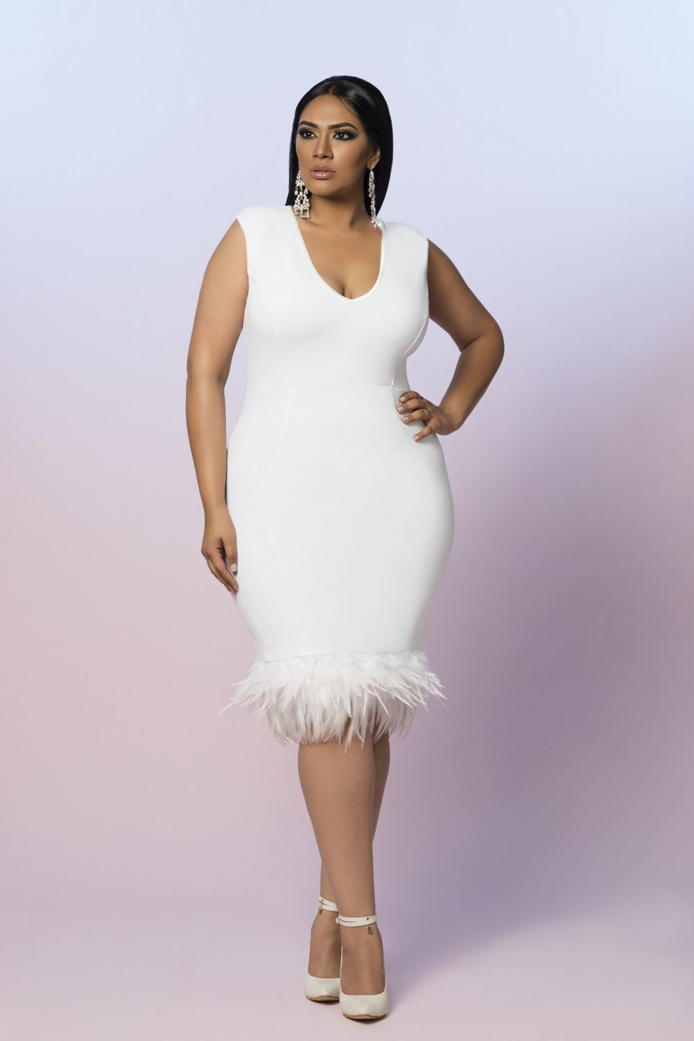 First Look Z By Zevarra White Label Summer Collection Curvy Fashionista Curvy Girl Fashion Little White Dresses [ 1500 x 1001 Pixel ]