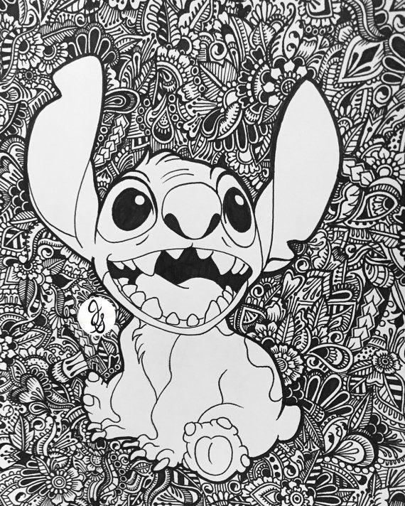 Lilo et Stitch Design Floral par byjamierose sur Etsy | Dibujos ...