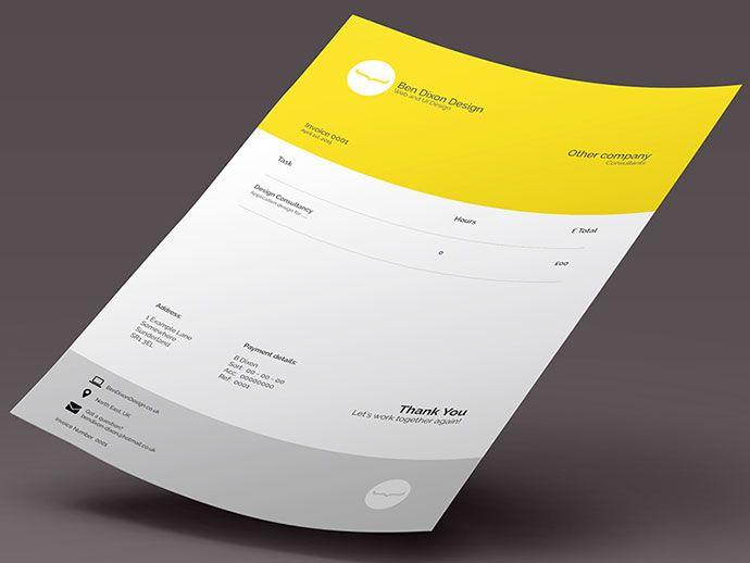 35 Striking Invoice Designs Design web and Business cards - invoice designer