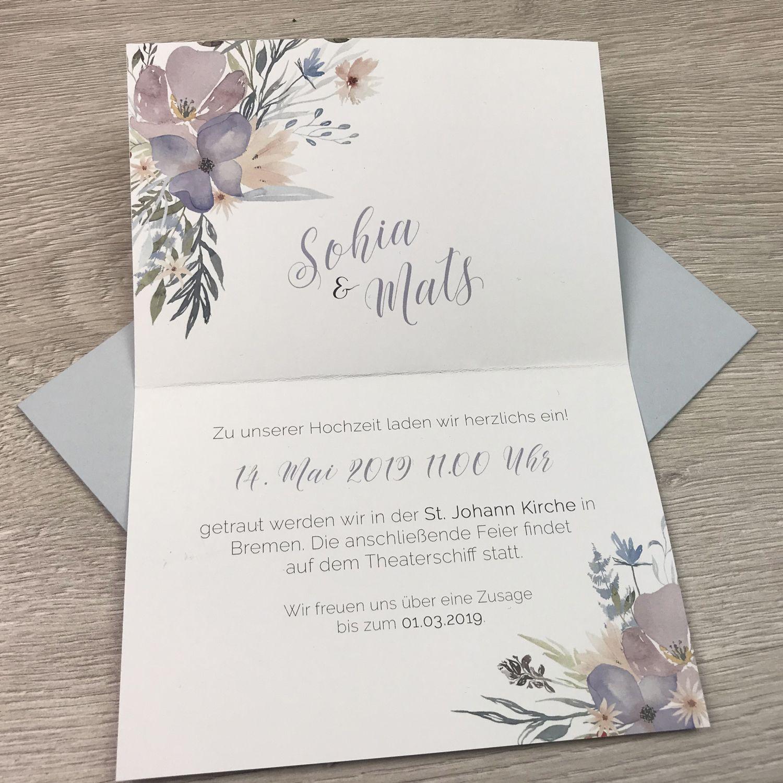 Wunderschöne hochzeitseinladung save the date karte menü und kirchenheft einladung mit einem satinband
