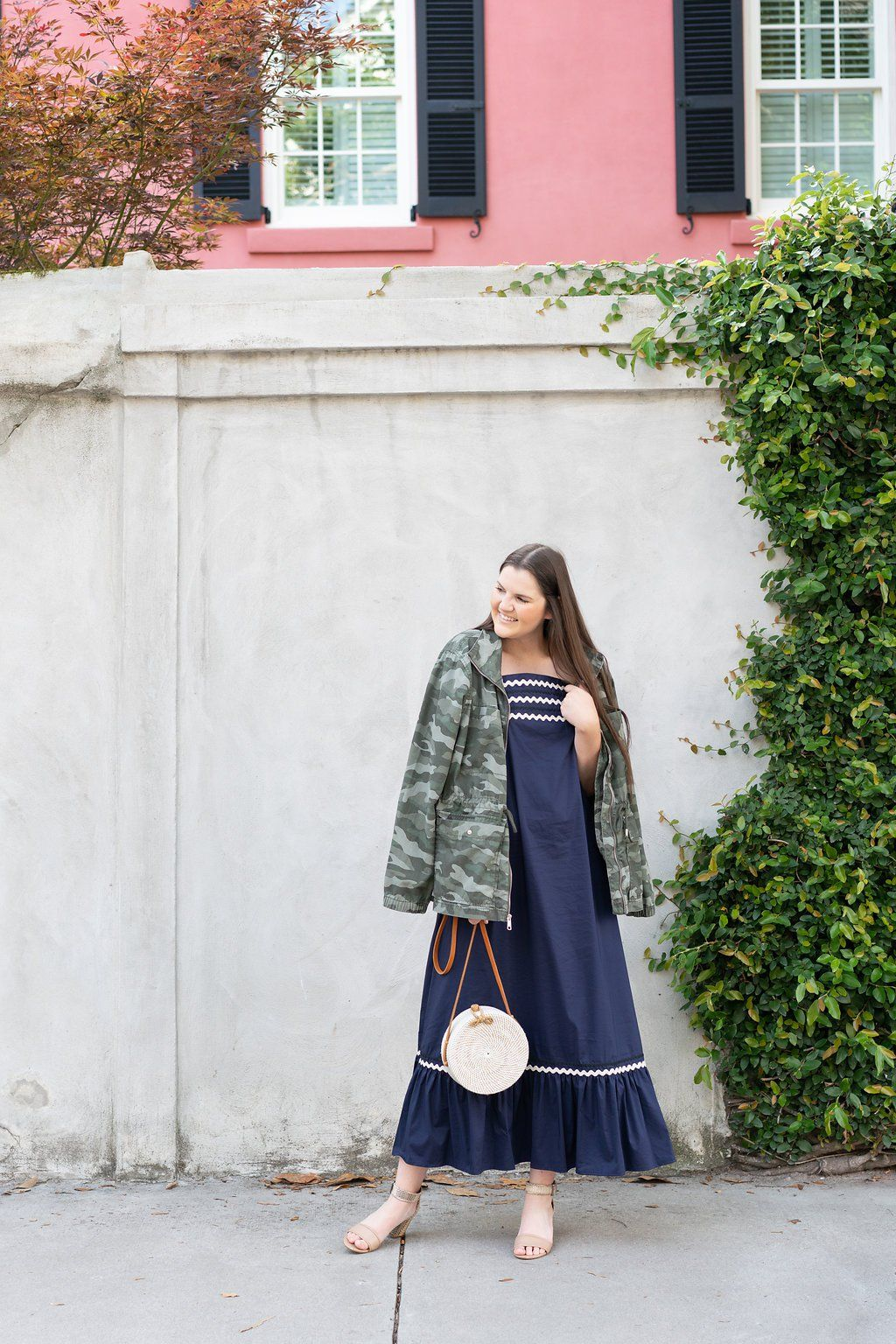 All you need is a light jacket summer edition navy maxi dress