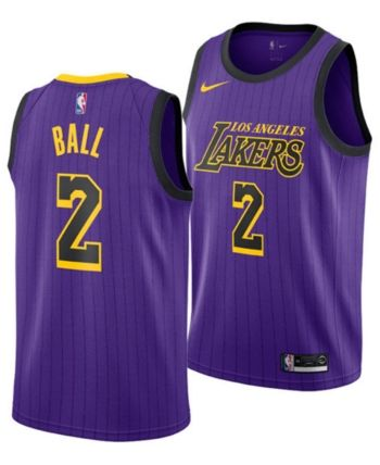 Nike Lonzo Ball Los Angeles Lakers City Edition Swingman Jersey 2018 ... a7a0bdb1a