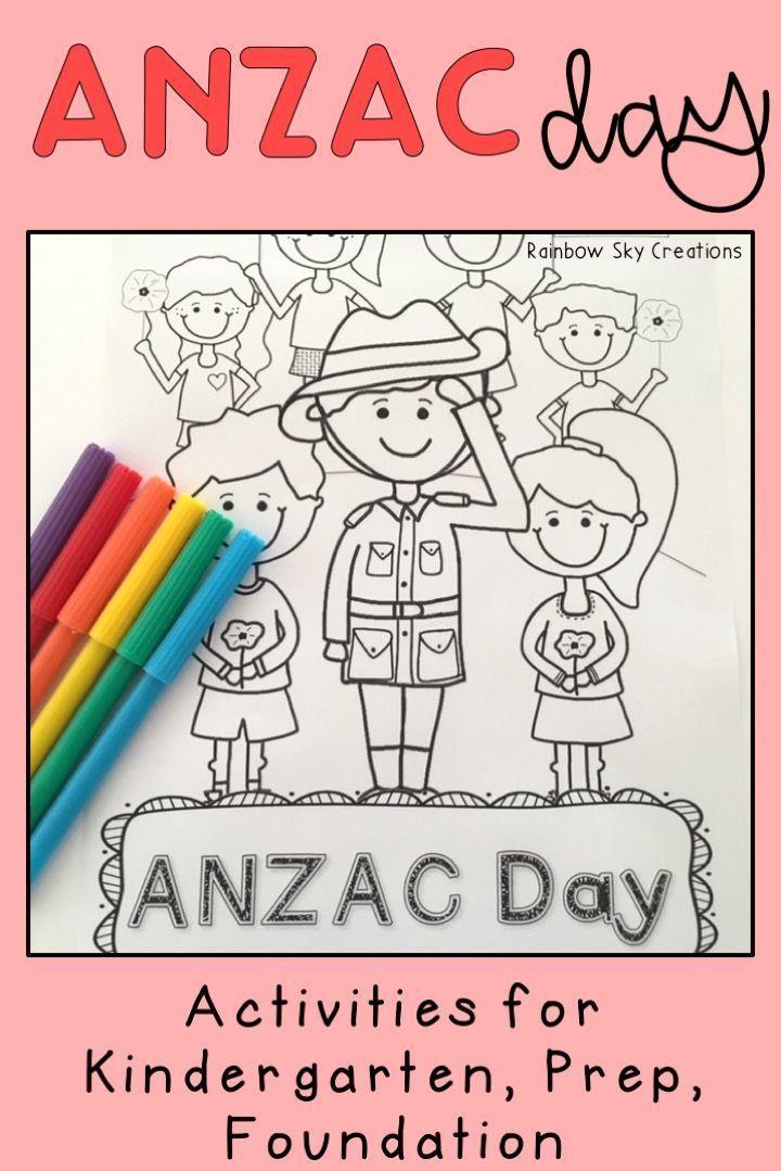 Kinder ANZAC Day Pack - Foundation / Kindergarten / Prep ...