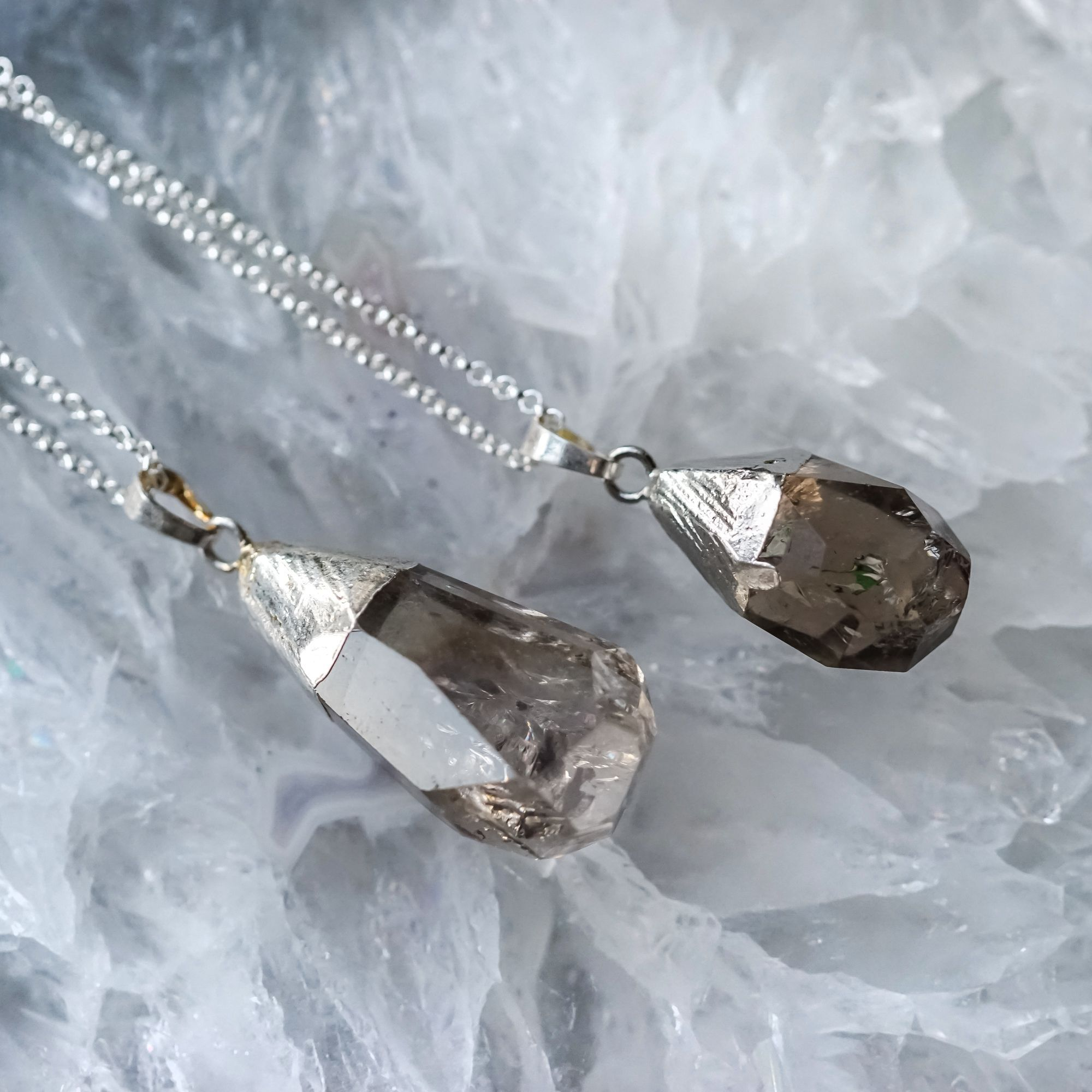 Smoky Quartz Pendants to absorb and transmute negativity