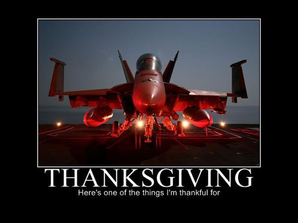 COOL US AIR FORCE THANKSGIVING PICTURE - TURKEY - ONE OF THE THINGS WE'RE THANKFUL FOR!