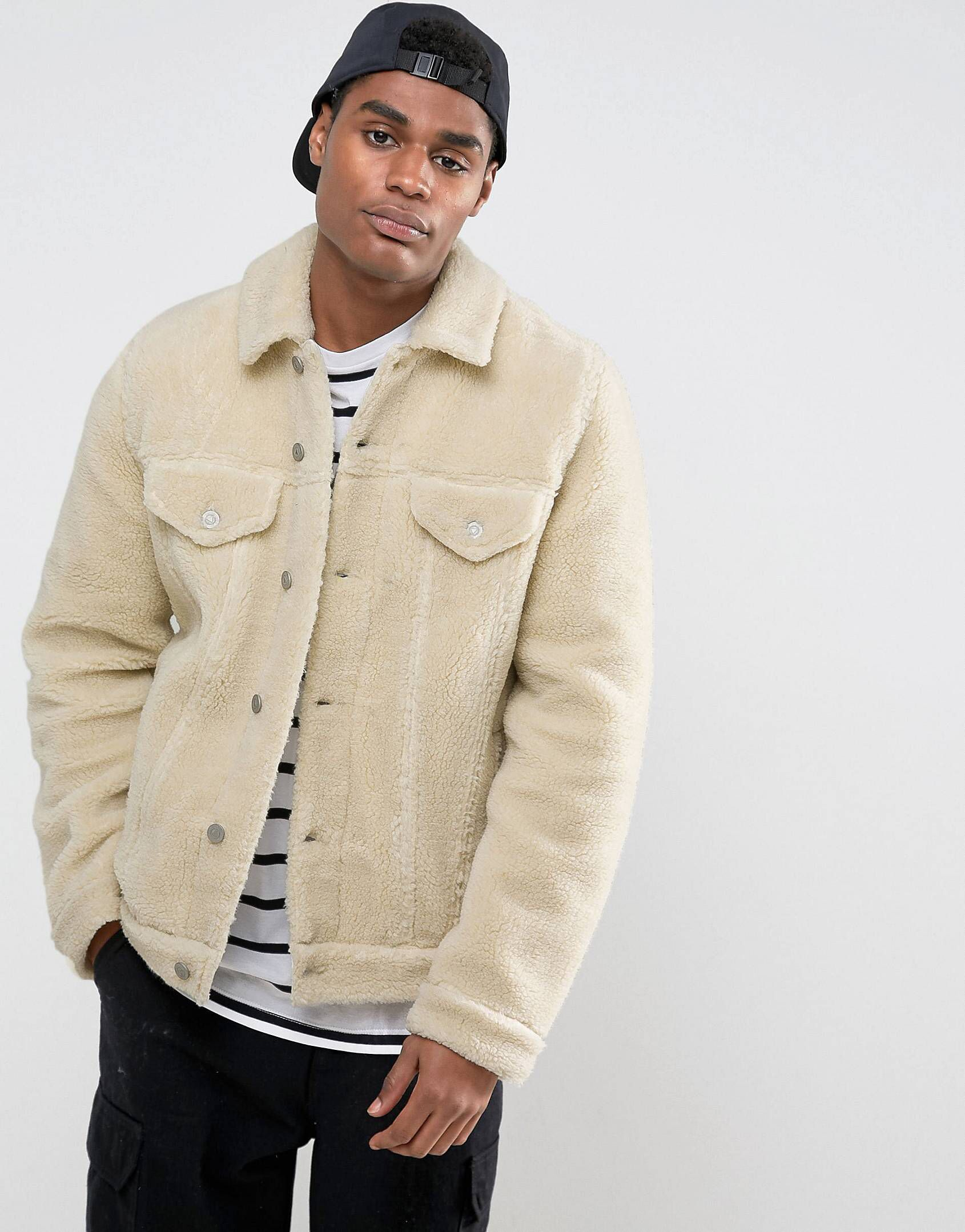 98d36663af ASOS Borg Western Jacket in Ecru | The Clothes He Covets | Latest ...