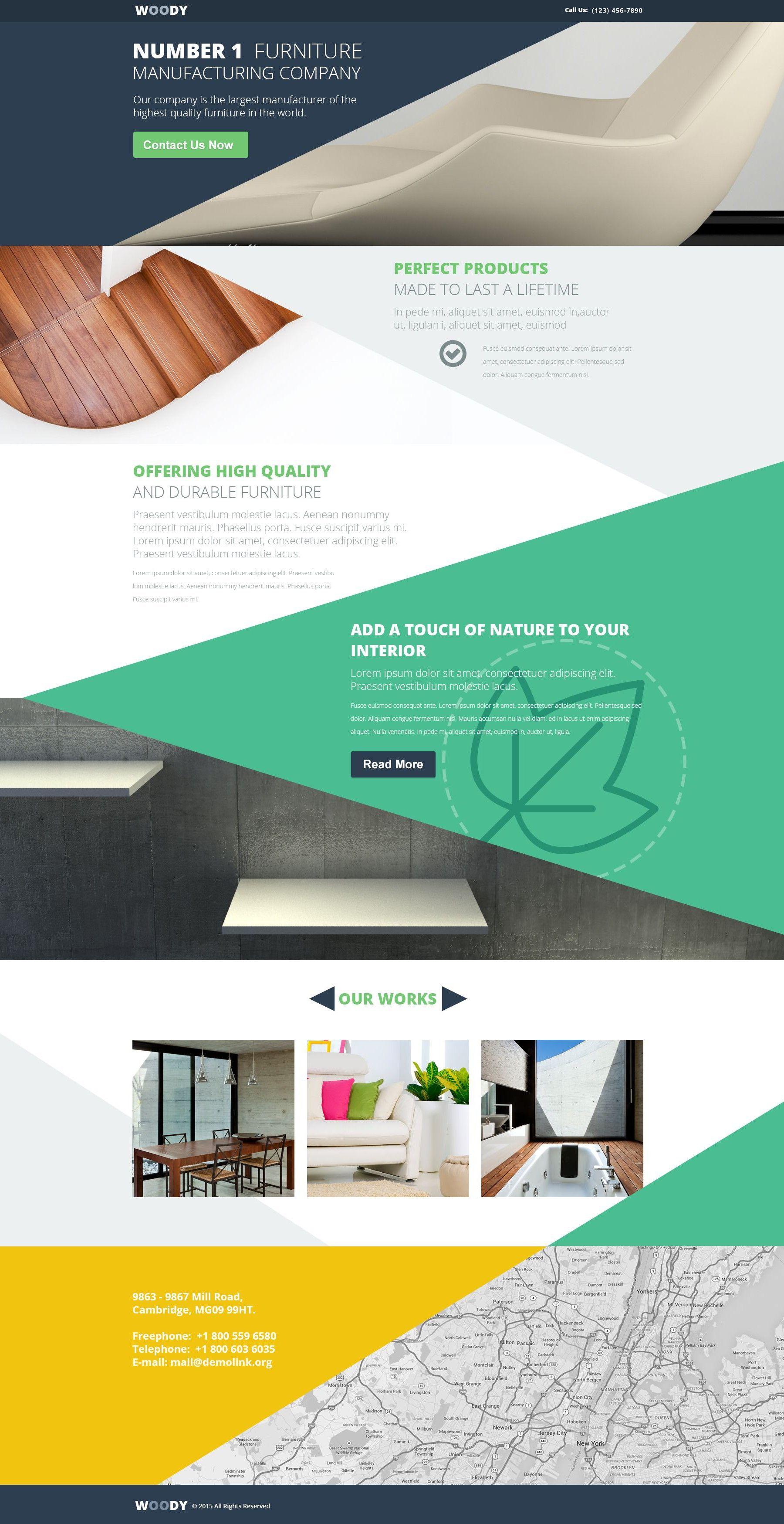 Woody Wood Landing Page Template By Templatemonster Promo Code Ui