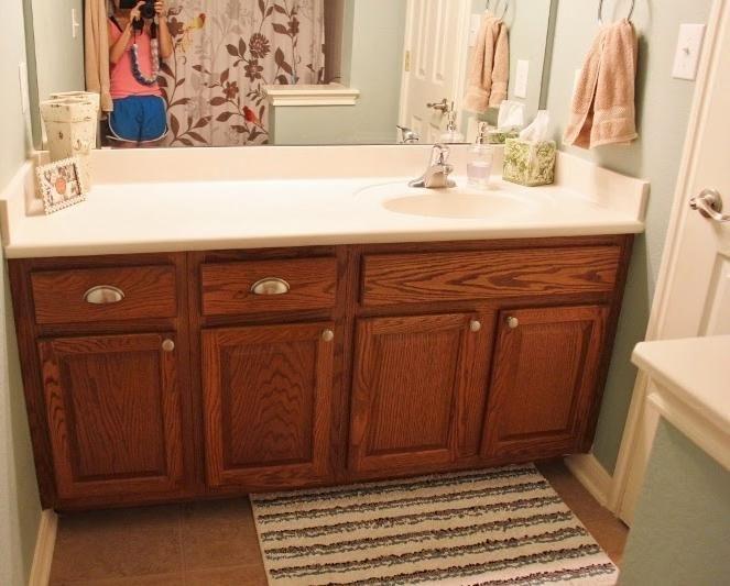 Bathroom Cabinets, Simple Design Small Bathroom With Blue ...