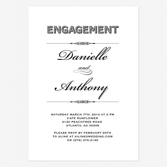 Lovely Vintage Engagement party invitation lovevsdesign – Vintage Engagement Party Invitations