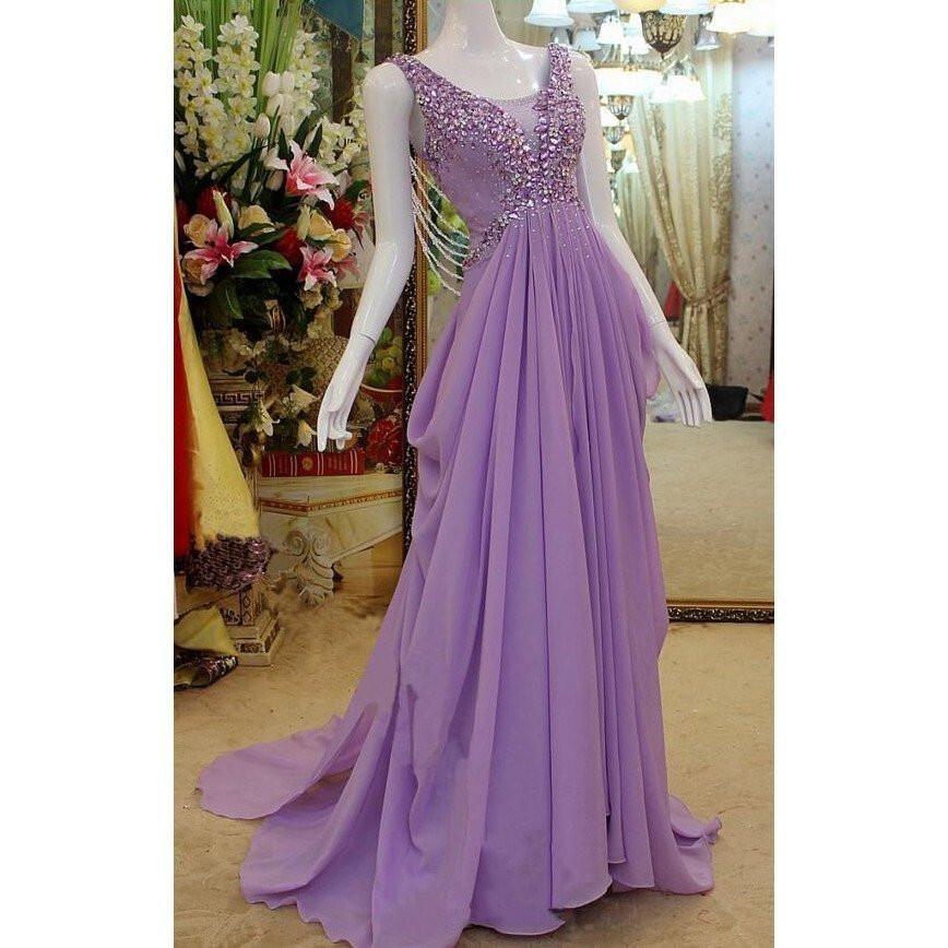 chiffon prom dress,long prom Dress,cheap Prom Dress,beaded prom ...